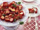 Strawberry Salad with Vanilla Sauce recipe