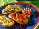 Stuffed Baked Potatoes with Three Fillings recipe
