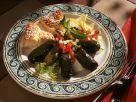 Stuffed Grape Leaves with Vegetable Salad recipe