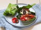Stuffed Kohlrabi Leaves with Feta and Tomatoes recipe