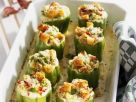 Stuffed Peppers with Herb Cheese and New Potatoes recipe