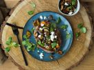 Stuffed Sweet Potato with Eggplant and Feta recipe