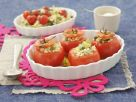 Stuffed Tomatoes with Peas, Zucchini and Rice recipe