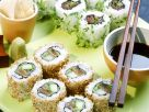Sushi with Tuna and Salmon recipe
