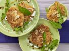 Sweet Potato Fritters on Dandelion Greens recipe