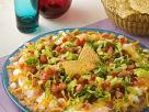 Taco Dip with Beans, Sour Cream and Vegetables recipe