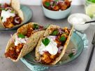 Tacos with Cauliflower, Bean Mole and Sour Cream recipe