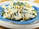 Tagliatelle with Ricotta Cheese, Spinach and Pine Nuts recipe