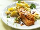 Teriyaki Salmon with Pineapple Rice recipe