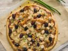Texas BBQ Chicken Pizza with Olives recipe