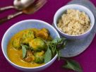 Thai Curry with Brussels Sprouts and Chestnuts recipe