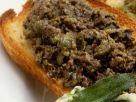 Toast with Black Olive Spread recipe