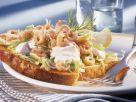 Toast with Shrimp and Sour Cream recipe