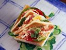 Toasted Bacon Salad Triangles recipe