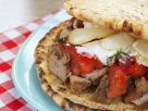 Toasted Greek Pork Flatbread recipe