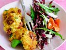 Tofu Patties with Radicchio and Arugula Salad recipe