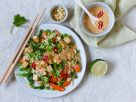 Tofu Vegetable Fried Rice with Peanut Sauce recipe