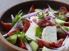 Tomato and Feta Cheese Salad with Cucumber recipe