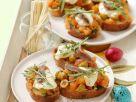 Tomato and Olive Crostini with Mozzarella recipe