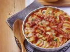 Tomato and Potato Gratin with Bacon and Onions recipe