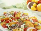 Tomato Salad with Cheese and Onions recipe