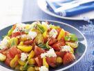 Tomato Salad with Feta Cheese and Basil recipe