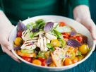 Tomato Salad with Halloumi Cheese recipe
