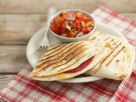 Tomato Salsa with Salami Quesadillas recipe