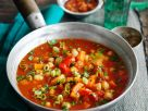 Tomato Soup with Chicken, Chickpeas and Vegetables recipe