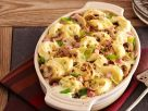 Tortellini Casserole with Ham and Scallions recipe