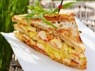 Triple Decker Curried Seafood Sandwich recipe
