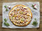 Tuna and Onion White Pizza recipe