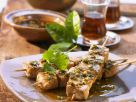 Tuna Skewers with Spicy Herb Sauce recipe