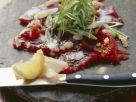 Tuna with Elderflower Buttermilk Foam recipe