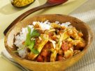 Turkey and Tomato Curry with Rice recipe