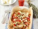 Turkey Breast with Olives, Feta and Tomatoes recipe