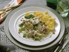 Creamy Blue Cheese Turkey with Pasta recipe