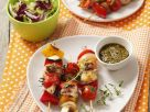 Turkey Brochettes with Peppers and Tomatoes recipe