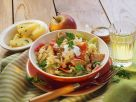 Turkey Goulash with Sauerkraut, Peppers and Apples recipe