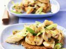 Turkey, Mushroom and Potato Pancake Pot Pie recipe