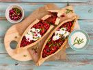 Turkish Pastry Boats with Eggplant-Paprika Filling recipe