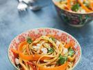 Udon Salad with Carrots, Cilantro and Peanuts recipe