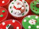 Vanilla Santa Cupcakes recipe