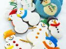 Vanilla Snowman Cookies recipe