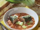 Veal Stuffed Bok Choy with Tomato Sauce recipe