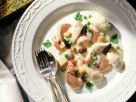 Veal Tongue, Chicken and Crayfish Fricassee with Pike Dumplings recipe