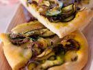 Vegan Zucchini Onion Focaccia Bread recipe