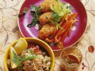 Vegetable Lentil Patties and Bulgur Salad recipe