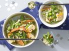 Vegetable-Noodle Soup with Egg Custard recipe