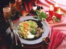 Vegetable Ragout with Gorgonzola Sauce over Wild Rice recipe